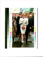 Princess Diana on her Walkabout in Camelford.