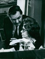 James Callaghan talking to the woman.