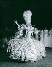 Woman performing in Carnival, 1965.