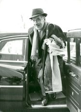 American comedian Groucho Marx arrives at an event