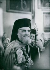 Portrait of Russian church dignitary Patriarch Nicolai VI, 1970