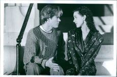 Kevin Bacon and Elizabeth Perkins in the film  He Said, She Said, 1991.
