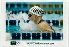 OS in Atlanta 1996. 400 meter medley, winner Michaela Smith from Ireland