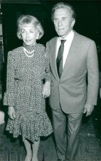 Kirk Douglas along with his wife Anne in London