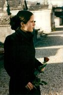 François Mitterrand's daughter Mazarine visits her father's graveyard two years after the event