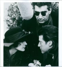 Eugene Levy, Sean Young & Richard Lewis in the movie Once Upon a Crime... (1992)