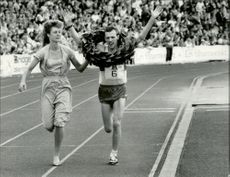 Stockholm marathon 1987. The winner Kevin Forster
