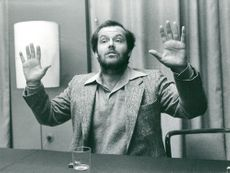 Actor Jack Nicholson during a press conference in the Vapensalen at the Grand Hotel