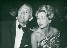 Kirk Douglas with wife Anne Douglas at a Hollywood night club