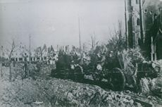 Red Army heavy artillery in East Prussia. October 1944.