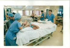 A patient arrives on the ward.