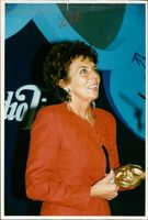Actress Sue Johnston with awards