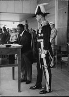 Benedicto Kiwanuka with Sir Walter Coutts.