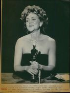 """Portrait image of actress Sally Field was taken in connection with the Oscars gala, where she was awarded the role of """"A Place In My Heart""""."""