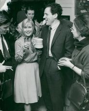 The theater association chairman Erland Josephson, together with Bibi Andersson