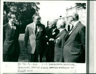 Viscount William Whitelaw with the leaders of political parties