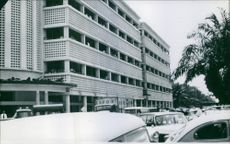 A front view of a building at Congo during the Congo crisis. 1960.