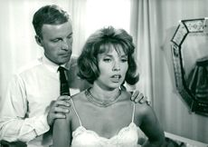 "Gunnel Lindblom and Alf Kjellin in the Swedish film ""My dear is a rose""."