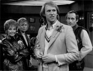 Peter Davison during the recordings by Doctor Who.