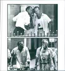 Scenes from the movie Die Hard with a Vengeance with Samuel L. Jackson and Bruce Willis, 1995.