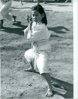 Child practicing martial arts.  - 1961