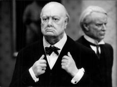 """Winston Churchill"" on Madame Tussaud's wax cabinet"