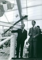 H.R.H. Prince of Sweden, Carl of Gustaf at U.S.A. pavilion. 1970.