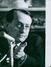 Close up of French novelist André Malraux
