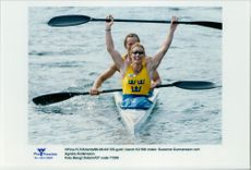 OS in Atlanta. Olympic gold in canoe K2 500 meters. Susanne Gunnarsson and Agneta Andersson