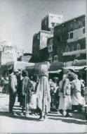 People on the streets of Yemen. 1962.