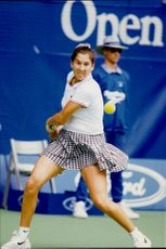The tennis player Monica Seles during the Australian Open 1996