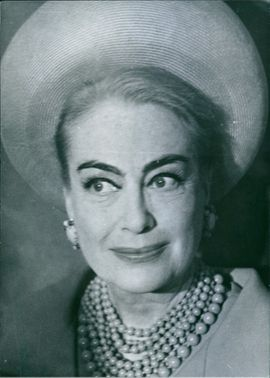 Portrait of Joan Crawford.