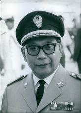 Indonesian politician, Major-General Suprajogi, 1963.