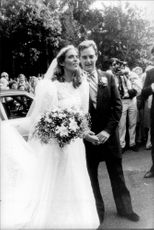 Sydney Lawford, daughter of Patricia Kennedy, along with her newcomer husband Peter McKelvy.