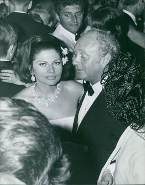 Princess Soraya in a party.