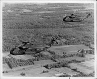 The first pair of CH-53D / G helicopters