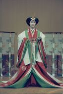 Geisha in traditional outfit