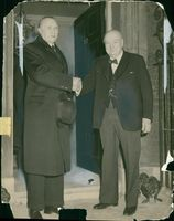 Winston Churchill with Dr. Adenauer