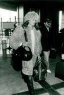 Actress Brooke Shields at Charles de Gaulle Airport for departure to the United States