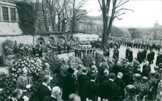A funeral ceremony in Luxembourg. April 14, 1970