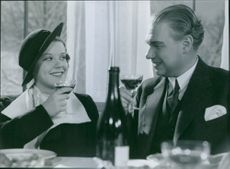 """A scene from the film """"The song to her"""", 1934."""