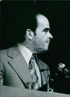 Georges Marchais giving speech.