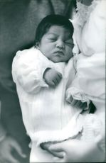 José Germano de Sales and Giovanna Augusta's new born baby.  Taken - Jan. 1968