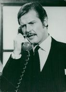 """Roger Moore in """"The Man Who Chased Himself""""."""