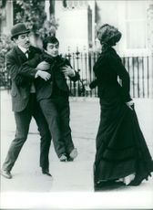 Nanette Newman, Peter Cook and Dudley Moore having fun.