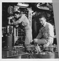 US Navy people working in ship.