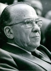 Spanish politician, Santiago Carrillo, 1981.