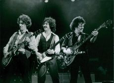 The American heavy rock band Blue Oyster Cult in concert. 1982.