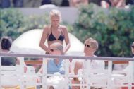 Dolph Lundgren together with female company in St. Tropez.