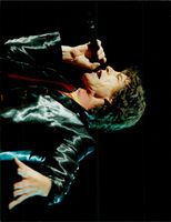 Mick Jagger during a Rolling Stones concert in the Globe